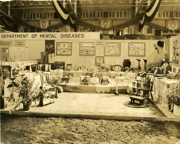 Department of Mental Diseases education exhibit booth, 1930