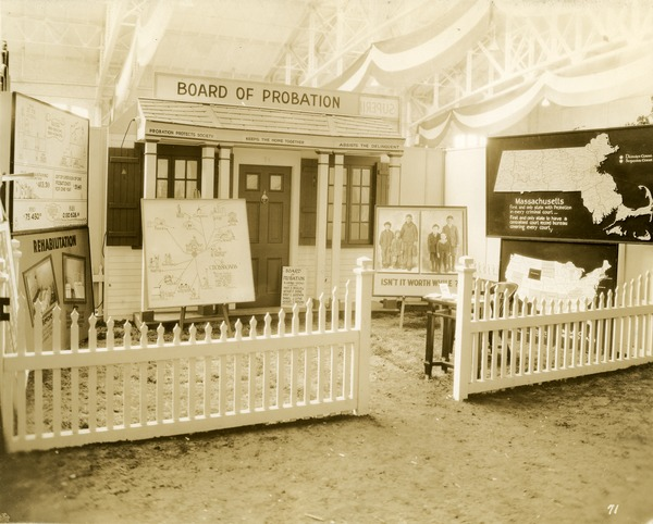 Board of Probation exhibit booth, 1930