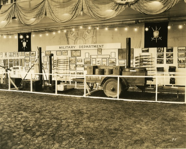 Military Department exhibit booth, 1930