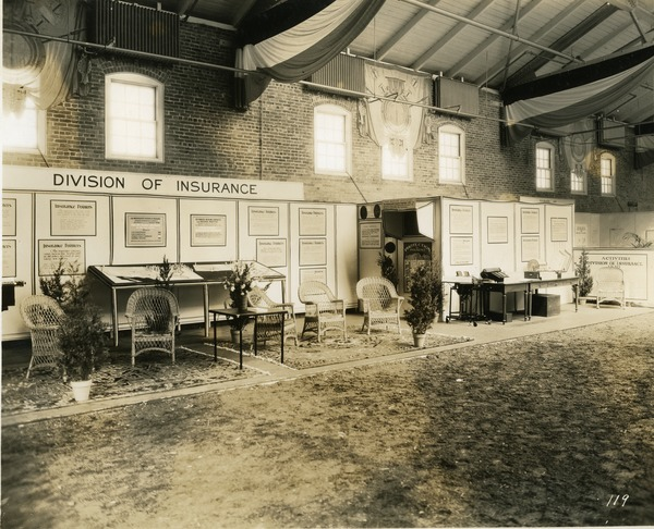 Division of Insurance exhibit booth, 1930