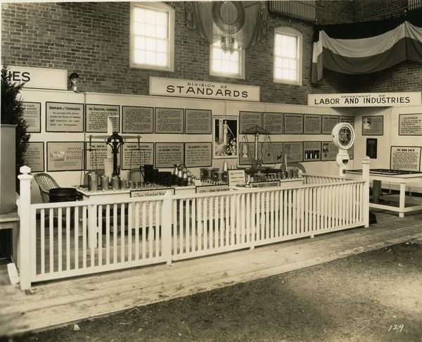 Division of Standards and Department of Labor and Industries exhibit booth, 1930
