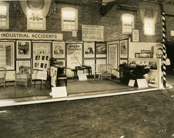 Department of Industrial Accidents exhibit booth, 1930