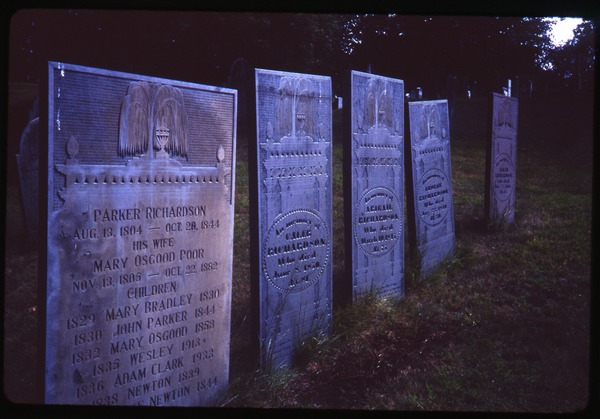 Andover (Mass.) gravestones: Richardson and family (d. 1844), August 1984