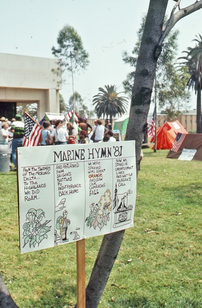 Close-up of the Marine Hymn '81 poster, June 1981