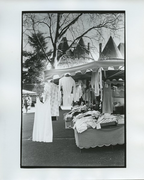 Dresses in a French market, ca. 1975
