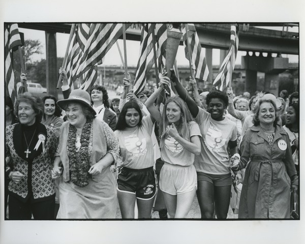 Last mile of First National Women's Conference, 1977