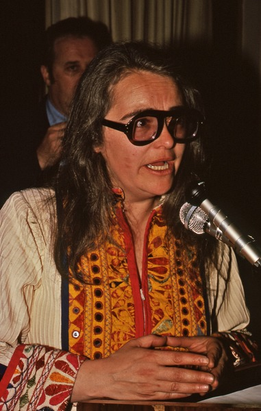 Kate Millett speaking at the Gala Benefit, March 30, 1979