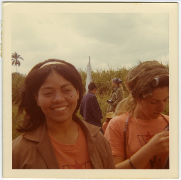 Lourdes Chateloin and Dulce, Cuban women who worked with Brigade #6, 1970