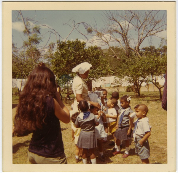 Cuban woman and children, 1970