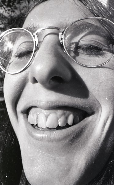 Moratorium to End the War in Vietnam: close-up of woman's face, October 15, 1969
