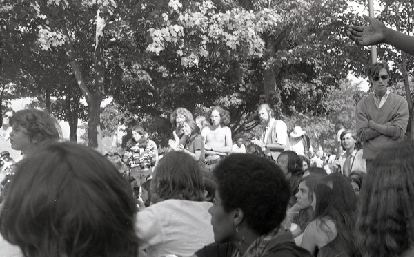 Gay liberation demonstration at Cambridge Common, 1970