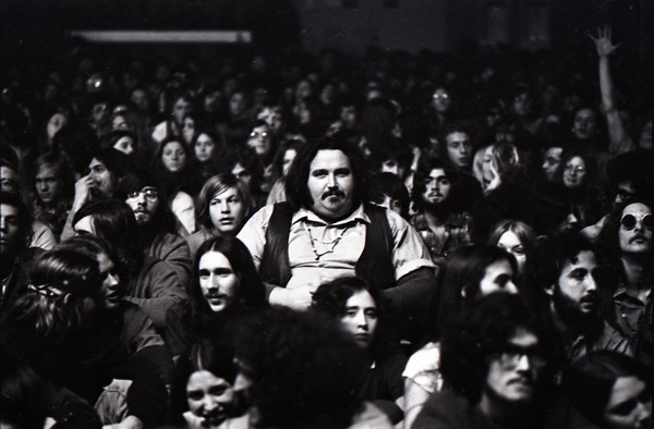 Grateful Dead at Sargent Gym, Boston University: man in audience, November 21, 1970
