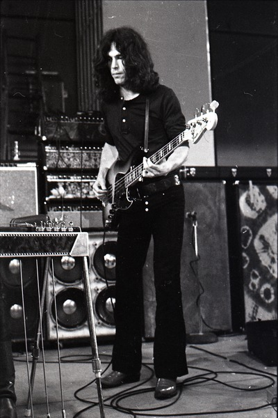 New Riders of the Purple Sage opening for the Grateful Dead at Sargent Gym, Boston University: Dave Torbert playing bass, November 21, 1970