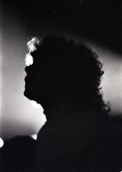 Grateful Dead at Sargent Gym, Boston University: silhouetted audience member., November 21, 1970