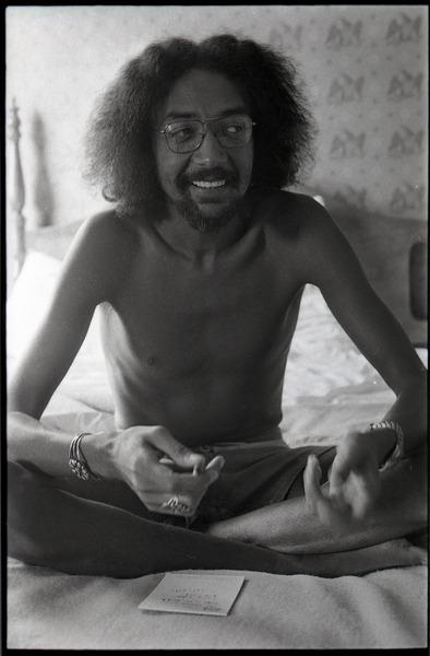 Charles Lloyd sitting on a bed, 1972
