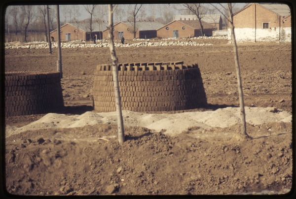 Drying bricks on commune, March 19, 1977