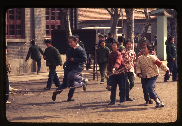 Hsiao Ying Primary School -- jump rope, March 24, 1977