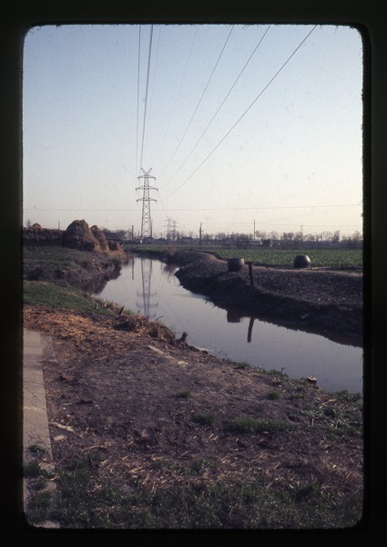 Long March Commune -- irrigation ditch, power line, March 25, 1977