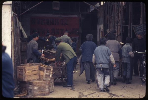 Place to store baskets, March 27, 1977