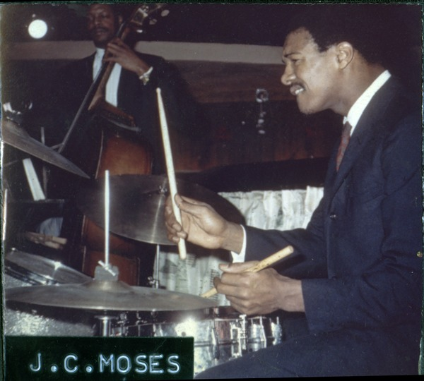 J. C. Moses: performing on the drums, ca. 1965