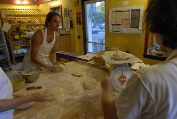 Hungry Ghost Bread: bakers preparing bread dough, September 3, 2008