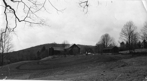 Montague Farm Commune: view from the lower garden, ca. 1974