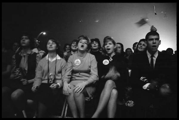Audience members at the Beatles concert at the Washington Coliseum, February 11, 1964