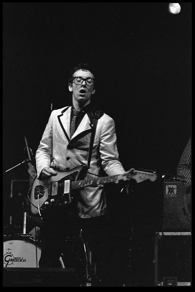 Elvis Costello and the Attractions in concert: Elvis Costello on guitar and             vocals, March 1, 1979