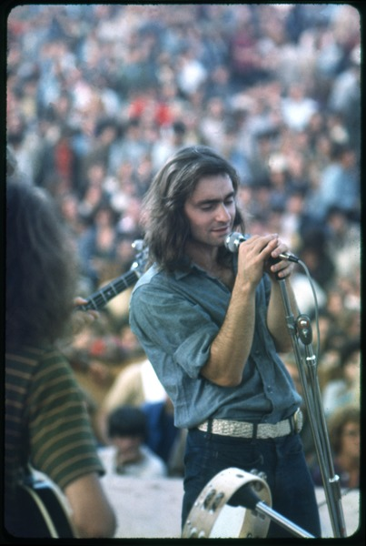 Marty Balin (Jefferson Airplane) performing on stage at the Woodstock Festival, August 1969