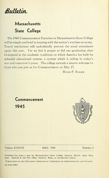 Commencement 1945, May 1945