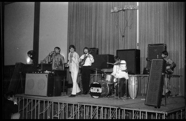 Winter Carnival: The Reign performing at the Student Union Ballroom, UMass Amherst, ca. February 24, 1968
