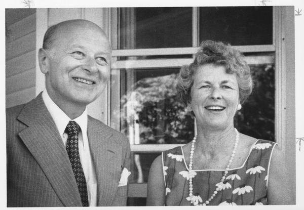 Henry Koffler with his wife Phyllis, ca. 1980