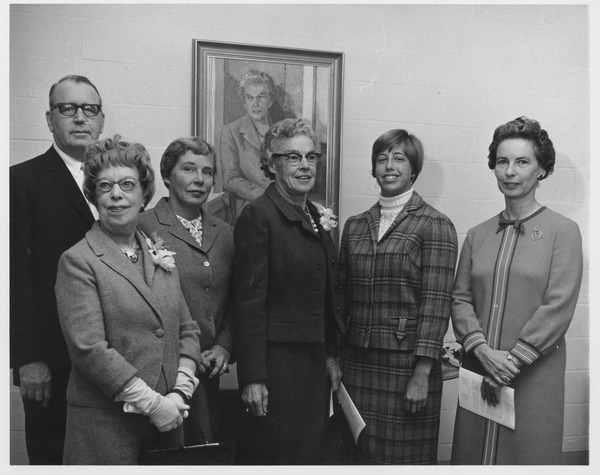 Ruth Totman at portrait dedication, 1966