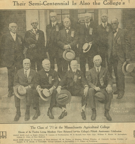 Their semi-centennial is also the college's, ca. June 11, 1921