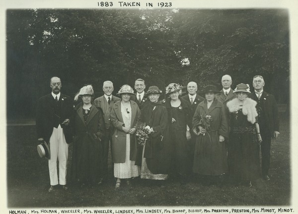 Class of 1883 at 40th reunion, 1923