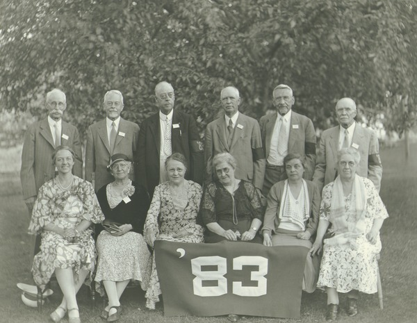 Class of 1883 at 50th reunion, 1933
