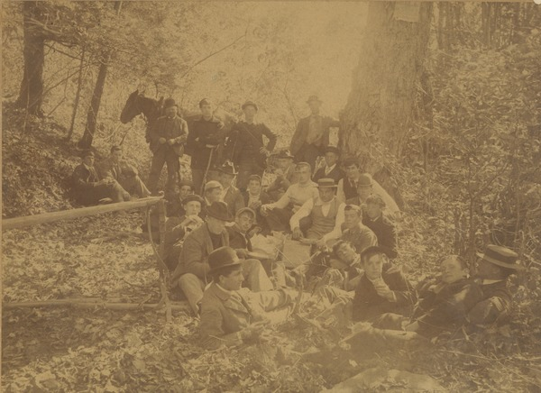 Members of the class of 1896 on Mt. Holyoke, October 11, 1893