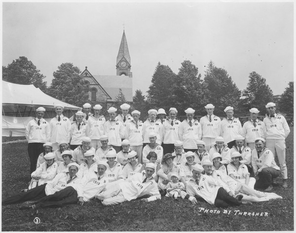 Class of 1919 at 2nd reunion in sailor costume, June 13, 1921