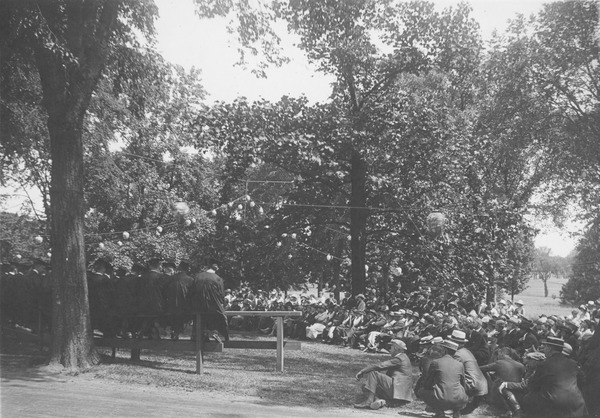Class Day in the Rhododendron Garden, ca. June 1923