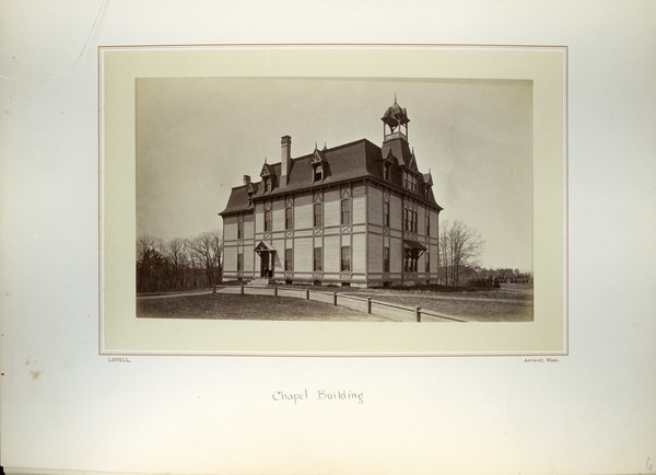 Chapel Building [i.e. College Hall], Massachusetts Agricultural College, ca. 1876