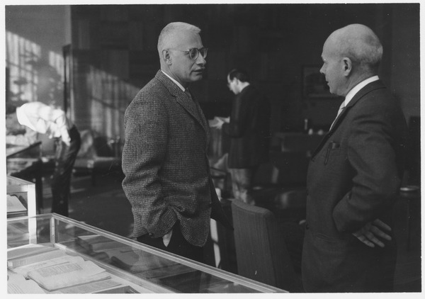 Rudolph Schuster and Benton Hatch at the Association of American University Presses' Quality Book Show, January 10, 1968