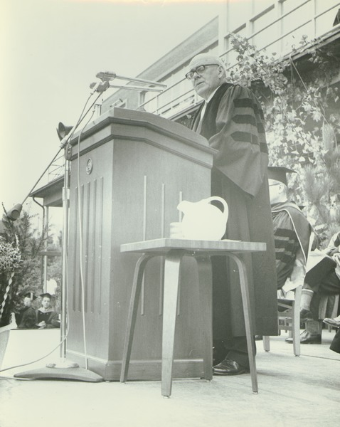 John J. McCloy speaking at the Centennial Convocation, October 4, 1962