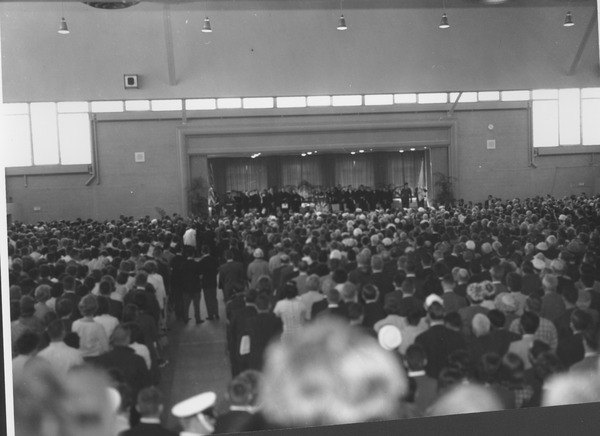 Crowd at Charter Day convocation, April 29, 1963