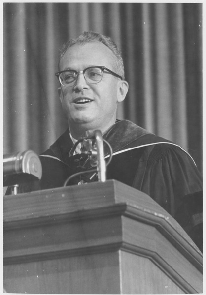 President John W. Lederle speaking at the Centennial Honors Day convocation, May 9, 1963