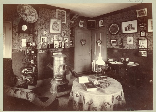 South College dormitory room, Massachusetts Agricultural College, ca. 1883
