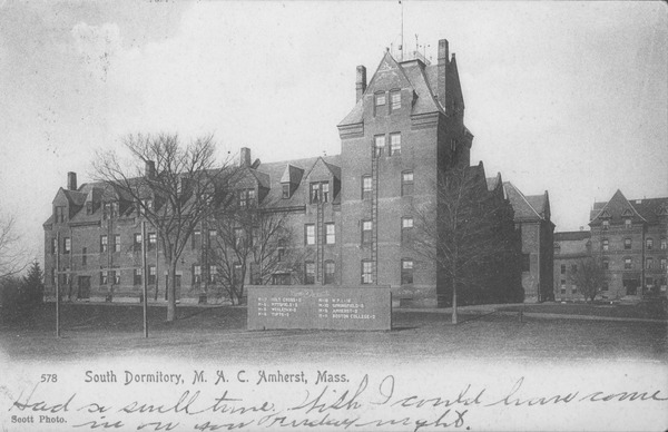 South Dormitory, M.A.C., Amherst, Mass., ca. 1907