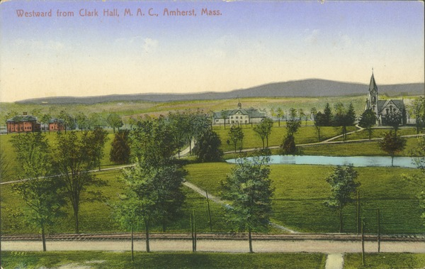 Westward from Clark Hall, M.A.C., Amherst, Mass., ca. 1910