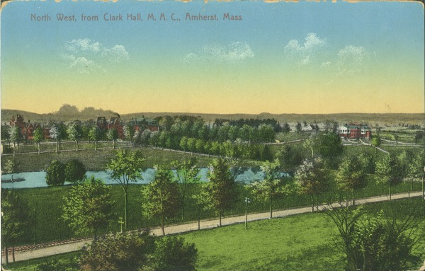 North west from Clark Hall, M.A.C., Amherst, Mass., ca. 1915