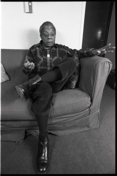 James Baldwin: Baldwin seated on a sofa, in conversation: , November 30, 1983