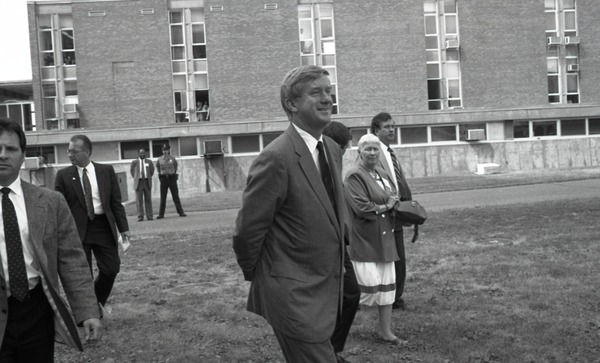 Ceremonial groundbreaking for the Conte Center: Gov. William Weld walking to the